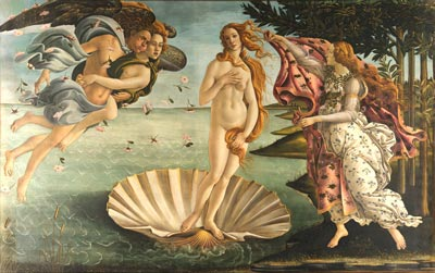 Botticelli, Birth of Venus, 1482