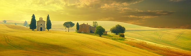 Tuscany landscape view