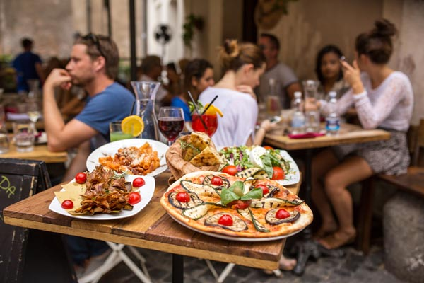 Traditional Italian food in Bolzano