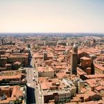 Bologna city view from above