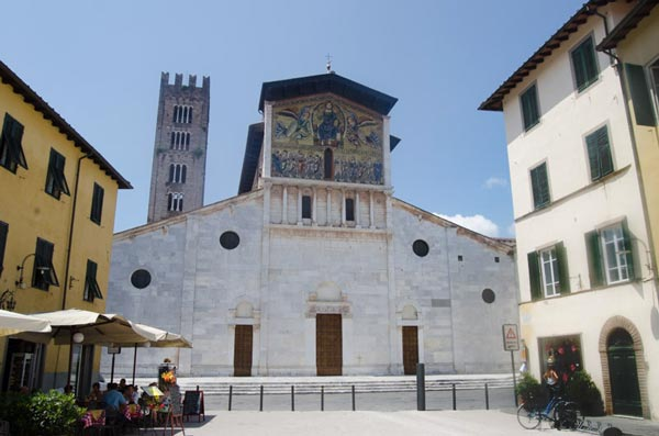 Lucca Duomo Church in Sunlight