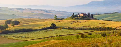Tuscany panoramic view
